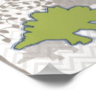 Stegosaur on Mono Zigzag Chevron Posters