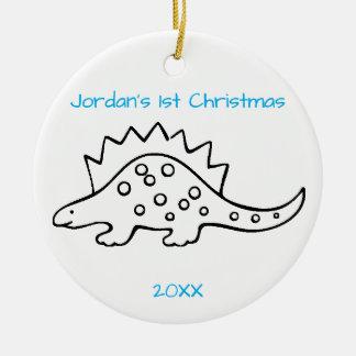Stegosaurus Christmas Christmas Ornament