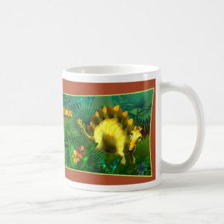 Stegosaurus Dinosaur Basic White Mug