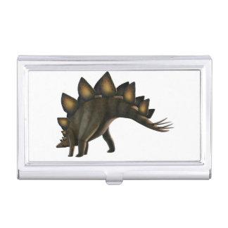 Stegosaurus dinosaur, computer artwork. business card holder