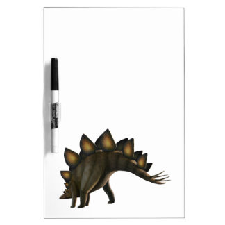 Stegosaurus dinosaur, computer artwork. dry erase board