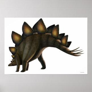 Stegosaurus dinosaur, computer artwork. posters