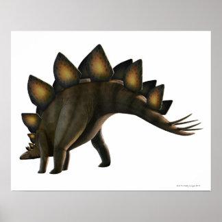 Stegosaurus dinosaur, computer artwork. poster