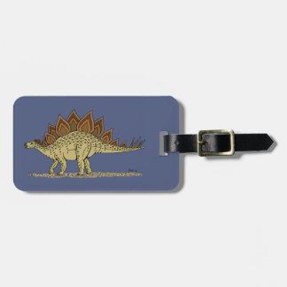 Stegosaurus Luggage Tag