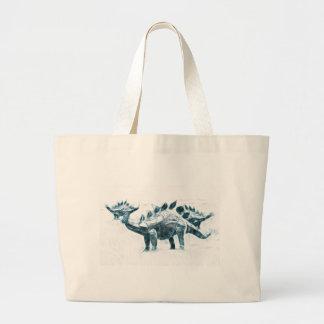 Stegosaurus Migration Tote Bags