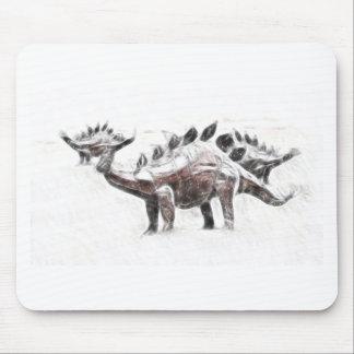 Stegosaurus Migration Mouse Pads