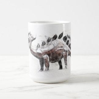 Stegosaurus Migration Basic White Mug