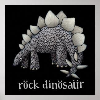 Stegosaurus Rock Dinosaur Print
