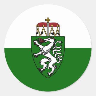 Steiermark (State), Austria flag Classic Round Sticker