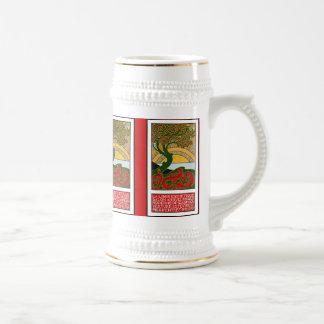 Stein:  Art Nouveau Poster - La Libre Esthetique Beer Steins