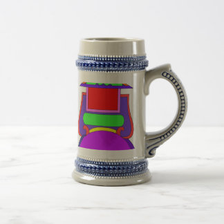 STEIN MUG WITH LABEL