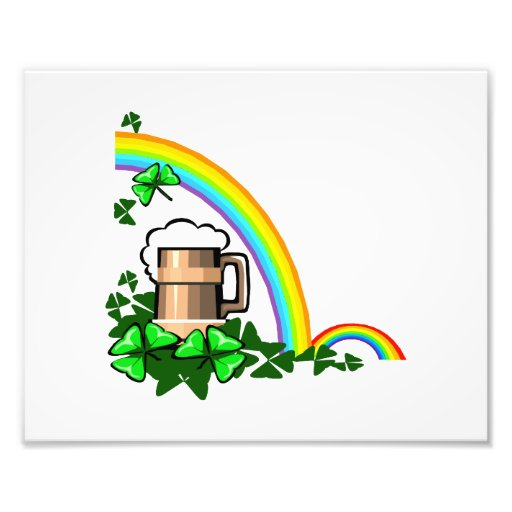 stein rainbows clover st patricks.png photograph