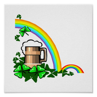 stein rainbows clover st patricks.png posters