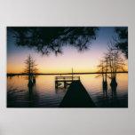 Steinhagen Reservoir Sunset Poster