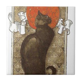 Steinlein's Cat - Art Nouveau Tile