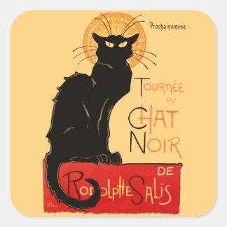 Steinlen Black Cat Square Sticker