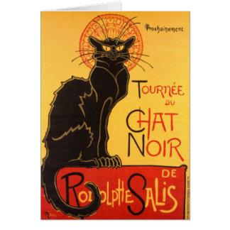 Steinlen: Chat Noir Greeting Card