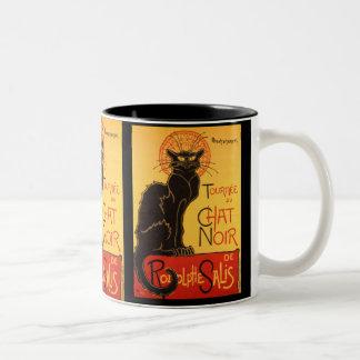 Steinlen: Chat Noir Two-Tone Coffee Mug