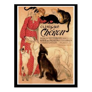 Steinlen s Vintage Clinique Chéron - Postcard