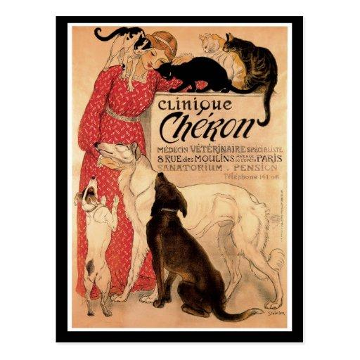 Steinlen's Vintage Clinique Chéron - Postcard