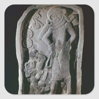 Stela depicting a ball player, from Guatemala Square Sticker
