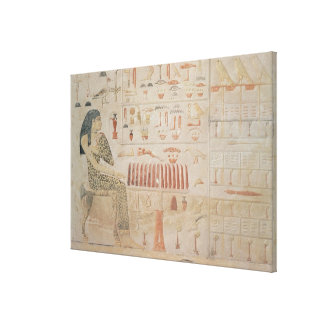 Stela of Princess Nefertiabet Canvas Print