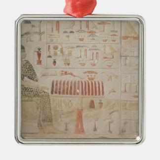 Stela of Princess Nefertiabet Silver-Colored Square Decoration
