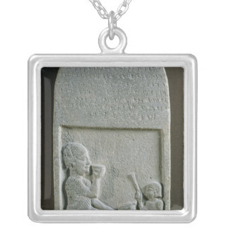 Stela of Si'gabbor, priest of the moon god Silver Plated Necklace