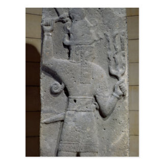 Stela of Teshub, Syrian storm god Postcard