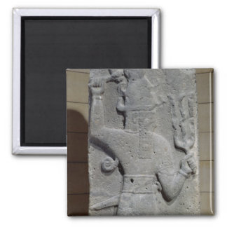 Stela of Teshub, Syrian storm god Square Magnet