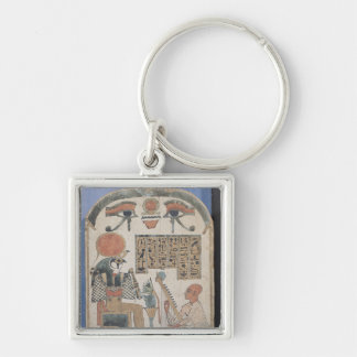 Stela of the harpist Djedkhonsuiuefankh Key Ring