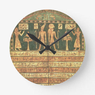 Stele of Horsiese, Late Period (painted wood) Round Clock