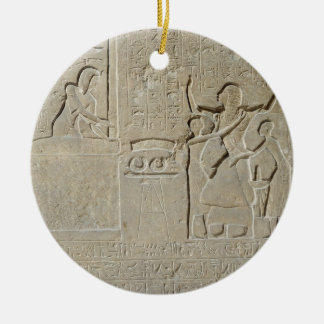 Stele of the necklaces, Hormin receiving the gold Round Ceramic Decoration
