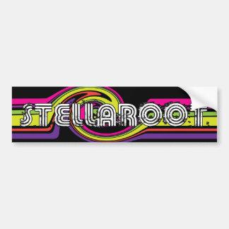 Stella Black Neon Wave Killed Bumper Sticker