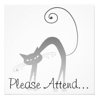 Stella Cat Spooky Personalized Invitation
