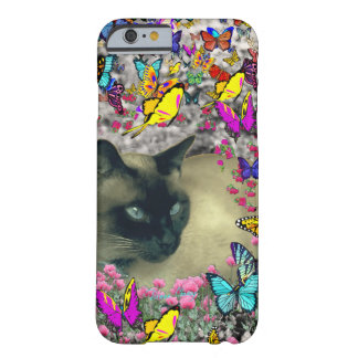 Stella in Butterflies Chocolate Point Siamese Cat Barely There iPhone 6 Case
