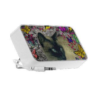 Stella in Butterflies Chocolate Point Siamese Cat Travel Speaker