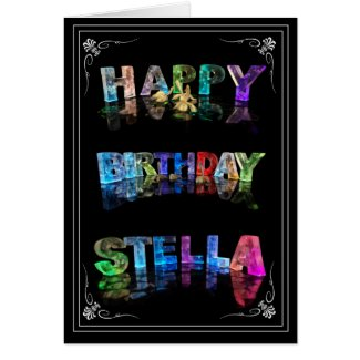 Stella - Name in Lights greeting card (Photo)