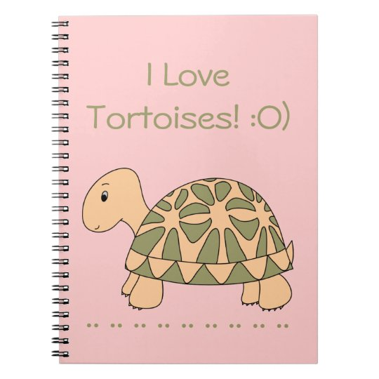 Stella Star Tortoise Notebook (pink)