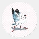 Stella Stork Round Sticker