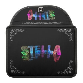 Stella - The Name Stella in 3D Lights (Photograph Sleeve For MacBook Pro
