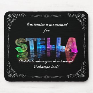 Stella - The Name Stella in 3D Lights (Photograph Mouse Mat