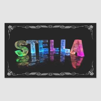 Stella - The Name Stella in 3D Lights (Photograph Stickers