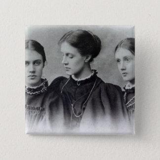 Stella, Vanessa and Virginia Stephen, c.1896 15 Cm Square Badge