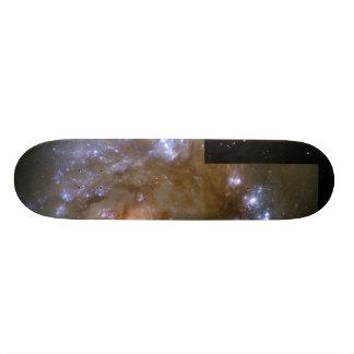 Stellar Fireworks Accompany Antennae Galaxy Collis 20.6 Cm Skateboard Deck