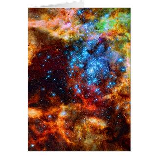 Stellar Group Tarantula Nebula outer space image Cards