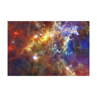 Stellar nursery in the Rosette Nebulae Canvas Prints