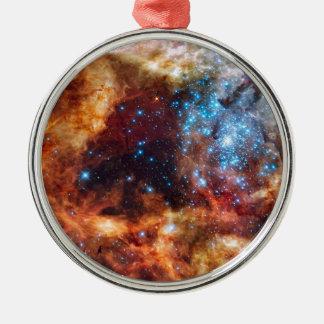 Stellar Nursery R136 Tarantula Nebula NASA Photo Silver-Colored Round Decoration