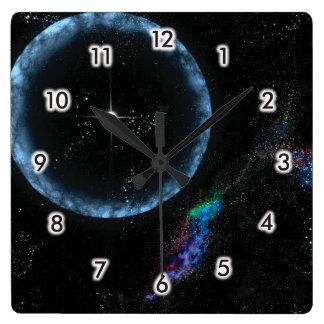 Stellar quake square wall clock