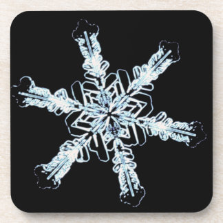 Stellar snow crystal coasters